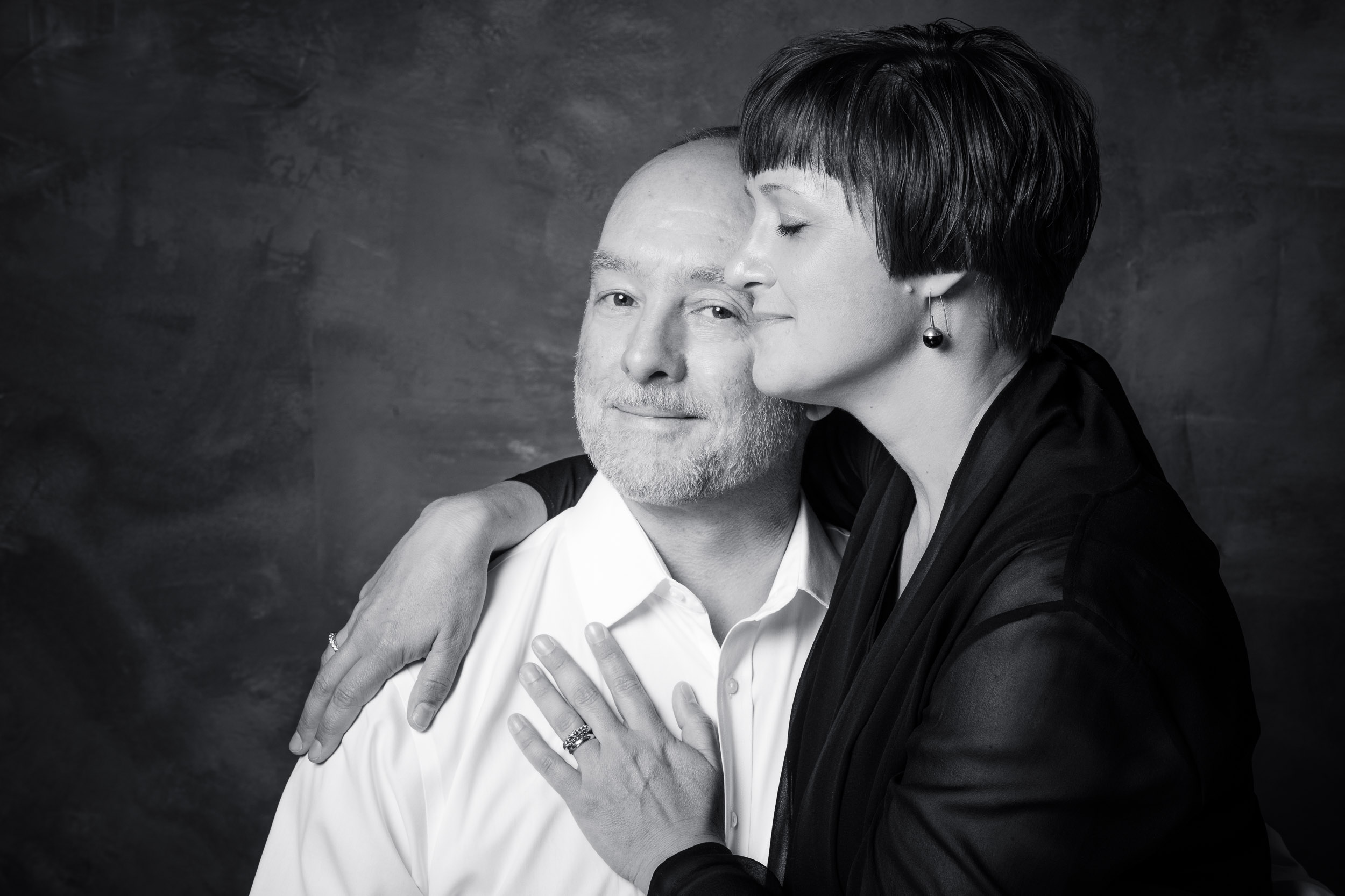 Anniversary portrait series for a couple : photographed at our North Seattle studio
