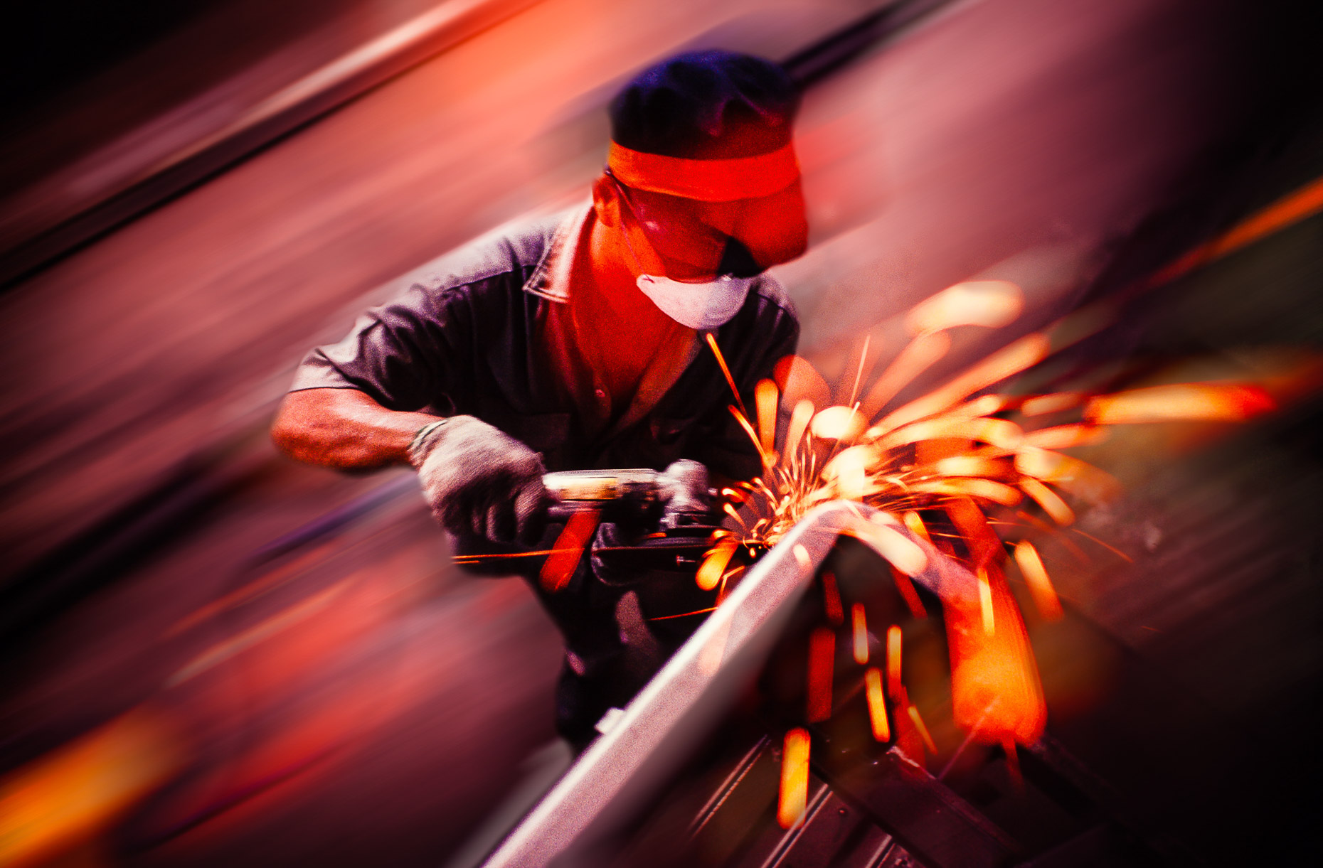 Working People On Site :  Industrial Welder Construction  :  Seattle Photographer Jed Share