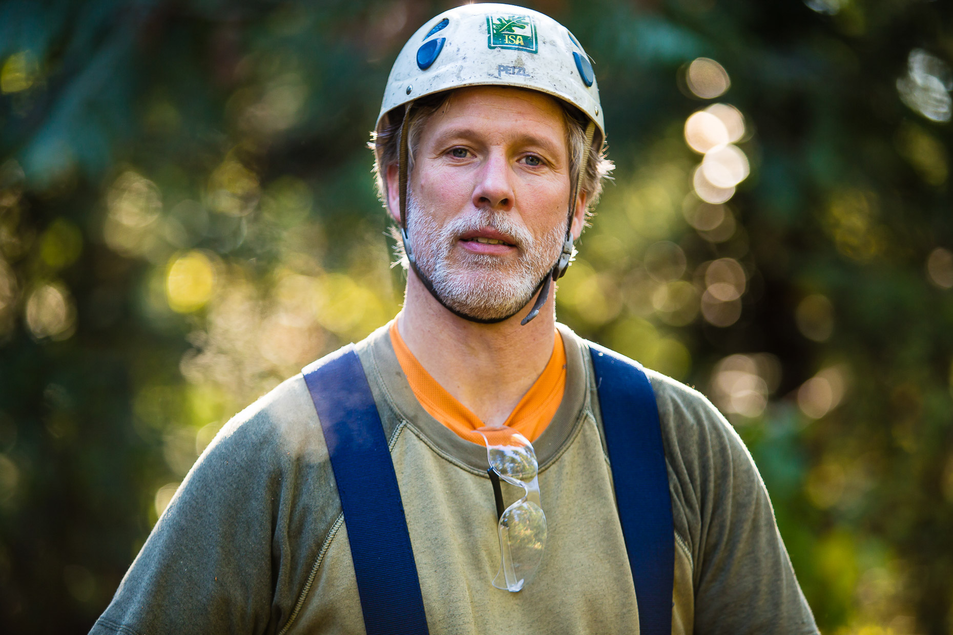 Authentic Portraits of People at Work  :  Seattle Industrial Photographer :  Jed Share Images :  Portrait of an arborist working in Seattle