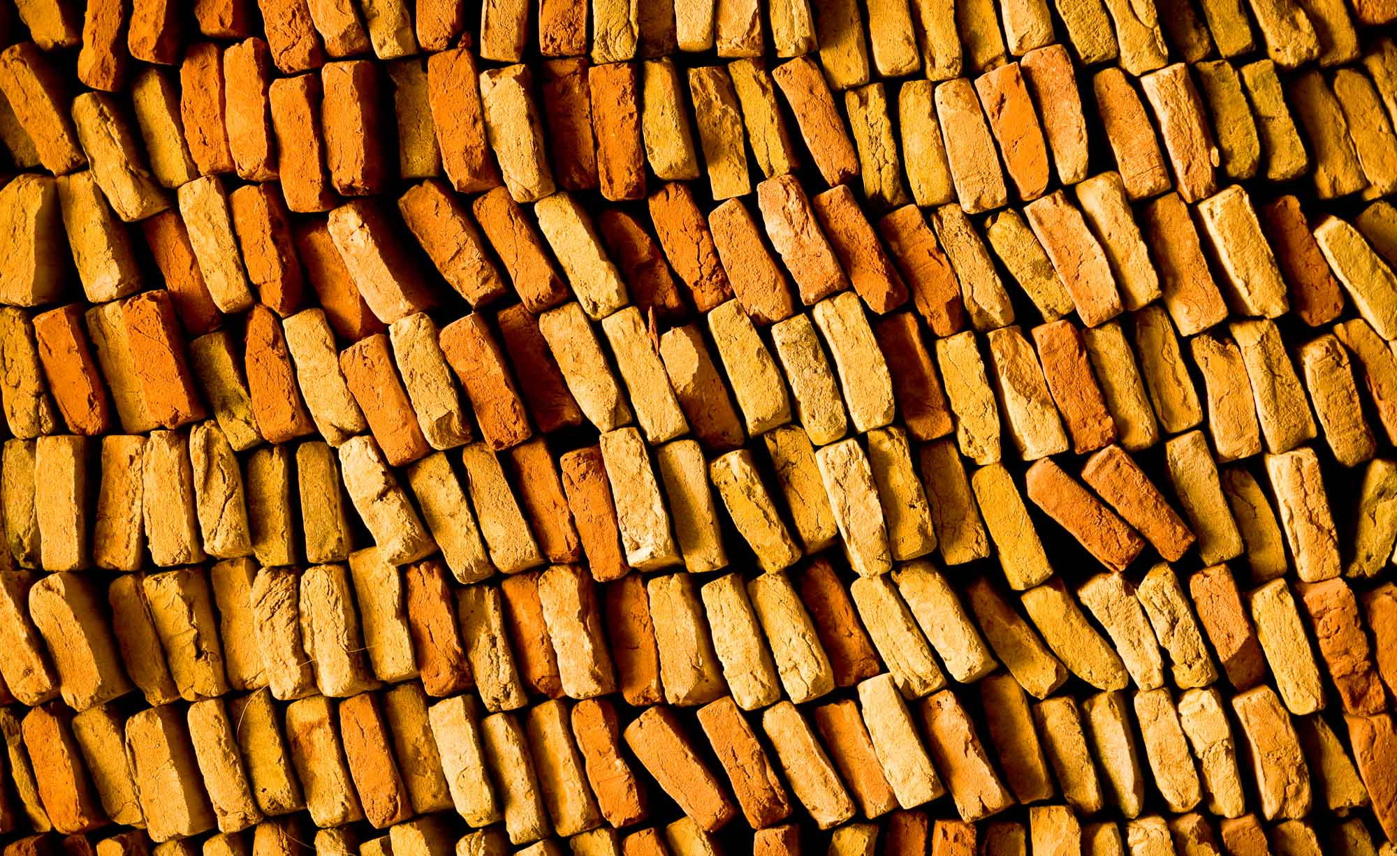 Roof tiles stacked in a Morocco warehouse