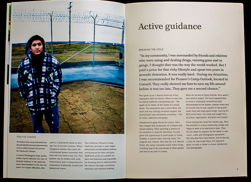 Positive Change for Young People : Helping Others : Seattle Photographer : Jed Share Images